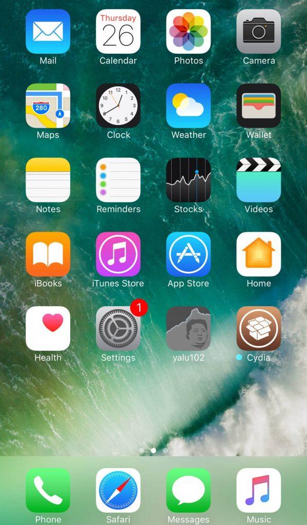 Click on Cydia app icon
