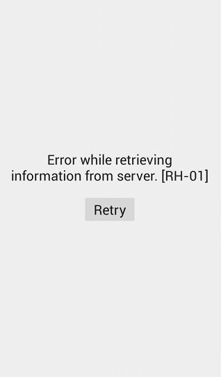 Error RH-01 in Google Play Store